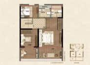 鲁班御园 G-B户型,4室2厅3卫,128平